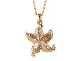 Rose Gold Over Sterling Silver Sealife Starfish Pendant