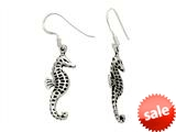Oxidized Sterling Silver Seahorse Earrings style: 92510139