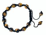 Adjustable Genuine Tiger Eye Gemstone Thread Bracelet