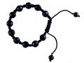 Adjustable Genuine Black Onyx Gemstone Thread Bracelet