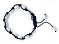 Adjustable Genuine Howlite Gemstone Thread Bracelet