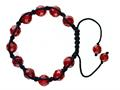 Adjustable Genuine Red Jade Gemstone Thread Bracelet