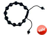 Adjustable Genuine Black Onyx Gemstone Thread Bracelet style: AM30553BO