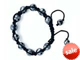 Adjustable Genuine Hematite Gemstone Thread Bracelet style: AM30553HE