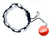 Adjustable Genuine Howlite Gemstone Thread Bracelet style: AM30553HL