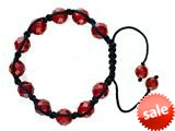 Adjustable Genuine Red Jade Gemstone Thread Bracelet style: AM30553RA