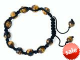 Adjustable Genuine Tiger Eye Gemstone Thread Bracelet style: AM30553TE