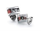 Tonino Lamborghini Stainless Steel Cufflinks with Three Red Crystal Stones Style number: TCL004000
