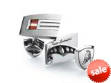 Tonino Lamborghini Stainless Steel Cufflinks with Red and White Crystal Stones style: TCL005000