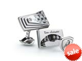 Tonino Lamborghini Stainless Steel Cufflinks with Carbon Fiber style: TCL006000