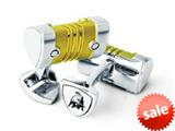 Tonino Lamborghini Stainless Steel Cufflinks with Yellow Plated Center Piece