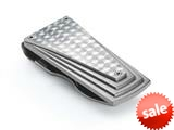 Tonino Lamborghini Motore Collection Stainless Steel Money Clip with Carbon Fiber