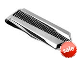 Tonino Lamborghini Stainless Steel Gunmetal Aria Collection Money Clip
