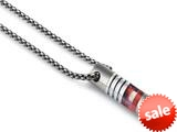 Tonino Lamborghini Corsa Collection Stainless Steel Pendant with Red and White Crystal Stones style: TNK005000