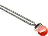 Tonino Lamborghini Spyder Collection Stainless Steel Rose Pendant with White Crystal Stones