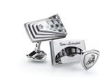 Tonino Lamborghini Stainless Steel Cufflinks with Carbon Fiber