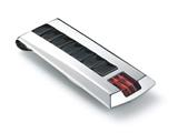 Tonino Lamborghini Primo Collection Stainless Steel Money Clip with Three Red Crystal Stones