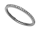 Zoe R™  925 Sterling Silver Micro Pave Hand Set Cubic Zirconia (CZ) Stackable Eternity Band style: BM10132