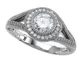 Zoe R™ 925 Sterling Silver Micro Pave Hand Set Cubic Zirconia (CZ) Engagement Ring style: BM10483