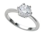 Zoe R™ 7mm 925 Sterling Silver Round Cubic Zirconia (CZ) Engagement Ring style: BM16823