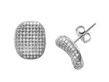 Zoe R Sterling Silver Micro Pave Hand Set Cubic Zirconia (CZ) Earrings