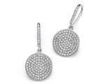 Zoe R 925 Sterling Silver Micro Pave Hand Set Cubic Zirconia (CZ) Circle Dangle Earrings