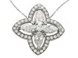 Zoe R Sterling Silver Micro Pave Hand Set Cubic Zirconia (CZ) Pendant