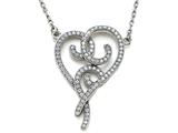 Zoe R Sterling Silver Micro Pave Hand Set Cubic Zirconia (CZ) Heart Pendant