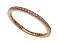 Zoe R Rose Gold Plated Sterling Silver Micro Pave Hand Set Cubic Zirconia (CZ) Stackable Eternity Band