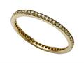 Zoe R Yellow Gold Plated Sterling Silver Micro Pave Hand Set Cubic Zirconia (CZ) Stackable Eternity Band