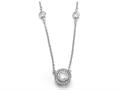 Zoe R™ 925 Sterling Silver Micro Pave Hand Set Cubic Zirconia (CZ) 18 Inch Diamond By The Yard Necklace With R