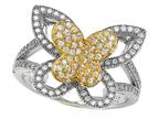 Zoe R 925 Sterling Silver Micro Pave Hand Set Cubic Zirconia (CZ) Butterfly Ring Style number: BM10248