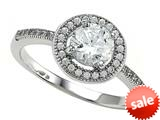 Zoe R™ 925 Sterling Silver Micro Pave Hand Set Cubic Zirconia (CZ) Round Engagement Ring style: BM10120