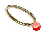 Zoe R™ Yellow Gold Plated Sterling Silver Micro Pave Hand Set Cubic Zirconia (CZ) Stackable Eternity Band