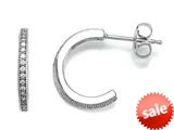 Zoe R™ 925 Sterling Silver Micro Pave Hand Set Cubic Zirconia (CZ) Small Hoop Earrings