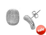 Zoe R™ Sterling Silver Micro Pave Hand Set Cubic Zirconia (CZ) Earrings style: BM20557