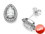 Zoe R™ 925 Sterling Silver Micro Pave Hand Set Cubic Zirconia (CZ) Pear Shape Earrings style: BM20559