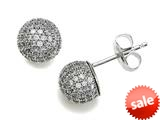 Zoe R™ 925 Sterling Silver Micro Pave Hand Set Cubic Zirconia (CZ) Ball Earrings