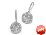 Zoe R™ 925 Sterling Silver Micro Pave Hand Set Cubic Zirconia (CZ) Circle Dangle Earrings