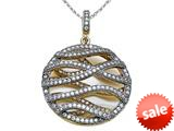 Zoe R™ 3D Sterling Silver Micro Pave Hand Set Cubic Zirconia (CZ) Pendant with style: BM30440TT