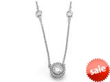 Zoe R™ 925 Sterling Silver Micro Pave Hand Set Cubic Zirconia (CZ) 18 Inch Diamond By The Yard Necklace With R style: BM30456B