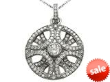 Zoe R™ 3D Sterling Silver Micro Pave Hand Set Cubic Zirconia (CZ) Pendant style: BM30464