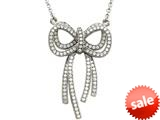 Zoe R™ Sterling Silver Micro Pave Bow Tie Cubic Zirconia (CZ) Pendant Necklace style: BM30493