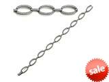 Zoe R™ Sterling Silver Micro Pave Hand Set Cubic Zirconia (CZ) Bracelet style: BM4007