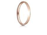 Benchmark® 14k Rose Gold 2mm High Polished Milgrain Center Design Band style: 7201314KR
