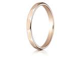 Benchmark® 14k Rose Gold 2mm High Polished Faceted Design Band style: 7202514KR