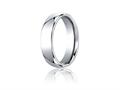 Benchmark® Cobalt Chrome™ 6mm Comfort-fit High Polished Design Ring