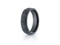 Benchmark® Ceramic 6mm Comfort-fit Satin-finished Design Ring