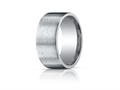Benchmark Argentium Silver 10mm Comfort-fit Satin-finished Design Band
