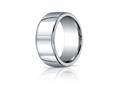Benchmark® Argentium Silver 10mm Comfort-fit High Polished Design Band